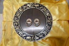 Poignée chinoise-Chinese handle-Maniglia-Griff-Tiradores-12 signes zodiaque-24cm