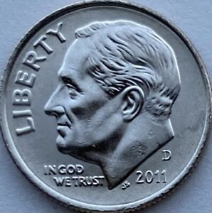 2011 D Roosevelt Dime BU From original bank roll. Gorgeous Coin!