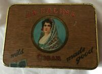 Vintage Advertising La Palina Senators Quality Cigar Tin  Tobacco