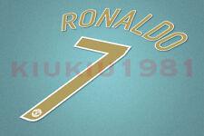 Manchester United CL C.Ronaldo #7 2006-2007 Homekit Nameset Printing