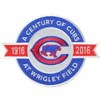 2016 Chicago Cubs A Century At Wrigley Field 100th Anniversary Jersey Patch