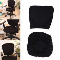 Housse de chaise extensible noire housse de chaise de bureau housse de chaise