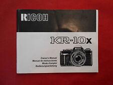 Bedienungsanleitung Ricoh KR-10x Gebrauchsanleitung ca.12x15cm.