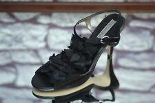 Banana Republic Women's Black Suede Fabric Ruffle Pumps Heels Size 8B 8 B