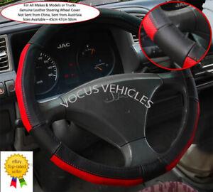 Sterling Truck Genuine Leather Steering Wheel Cover 45cm 47cm 50cm Cow Hide