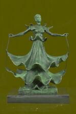 Rare Surreal Bronze Sculpture,signed,Salvador Dali Lady Woman Hot Cast Art