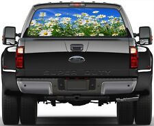 Nature Field of Daisies Rear Window Graphic Decal for Truck Van Car