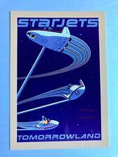 Rare TOKYO DISNEYLAND attraction poster postcard STAR JETS Tomorrowland 1983