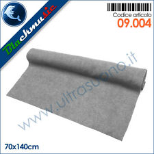 Moquette acustica rigata (a costine) colore grigio chiaro - 70x140cm