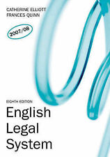 English Legal System: AND Law Express, English Legal System by