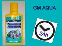 TETRA CRYSTAL WATER - 100ML - FISH TANK WATER CLEANER CLOUDY AQUARIUM TREATMENT