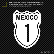 (2X) Baja Highway Mexico Sticker Die Cut Decal Self Adhesive Vinyl california