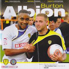 Football Programme>BURTON ALBION v MACCLESFIELD TOWN Nov 2011