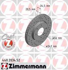 Disque de frein avant ZIMMERMANN PERCE 440.2034.52 CITROËN ZX Break N2 1.6 i 88c