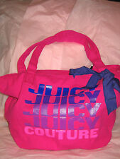 Juicy couture gen Y canvas tote repeat pink purple zippered closure YHRUO029 bow