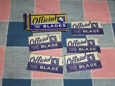 NOS Official Double Edge Razor Blades Box with 5 Blades