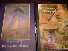 Lot of New Photograph Albums, Monet and Cottages Theme