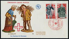 France B503-4 on Red Cross FDC - Christmas Figurines