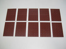 Lego ® Lot x10 Plaques Rectangle Marron 4x6 Plate Red Brown ref 3032 NEW