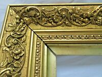 "ANTIQUE FITS 14.75"" X 19.25"" GOLD GILT ORNATE WOOD FRAME FINE ART VICTORIAN"