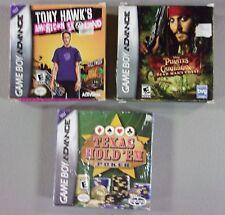 Game Boy Advance Lot 3 Games Pirates of The Caribbean Tony Hawk's Texas Gold 'Em