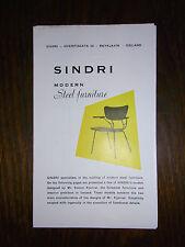 alter Falt Prospekt Sindri Modern Steel furniture Stahlmögen Island 21,5x13cm