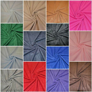SUEDETTE DOE SUEDE FAUX SUEDE FABRIC 100% POLYESTER WIDTH 150 CM FREE P&P