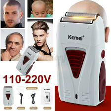 KEMEI KM-3382 Electric Men Shaver Beard Trimmer Razor Bald Rechargeable Floating