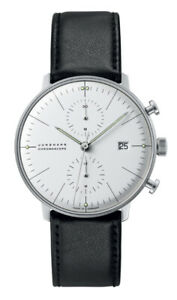 Junghans 027/4600.04 Max Bill Men's Chronoscope Black Leather Strap 40mm Watch