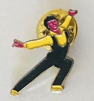 Male Dancer Ballroom Dancing Pin Badge Rare Vintage (C15)