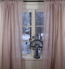 Vorhang LIA Rosa Gardinen Schal 130x240 cm Crincle Crash Knitter Shabby Vintage