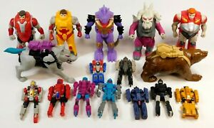 TRANSFORMERS G1 PRETENDERS LOT OF FIGURES AND SHELLS 1988-89