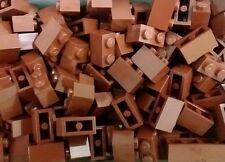 *NEW* Lego Brown 1x2 Stud Bricks Blocks Garden Walls Ships Buildings 20 pieces