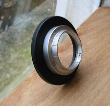 27 mm PUSH FIT slip on Aluminium Adaptateur Anneau Step Up to 49 mm Vis En