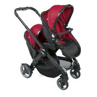 CHICCO Fully Twin Stroller Twin Double Reversible Pram Travel System
