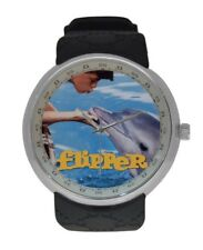 Vintage Unique Collectible FLIPPER TV Show watch  Animals Pet Lovers Watches