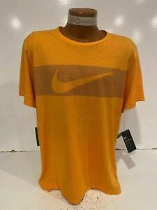 Nike Breathe Men's Hyper Dry Training Top Shirt Size L, XL Orange CN9815-833