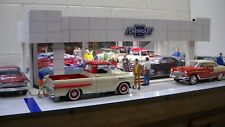 Chevrolet vintage-style model car dealership showroom diorama 1/24 1/25 scale!