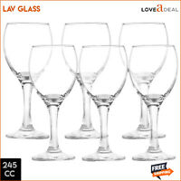 6 Champagne Whisky Flute LAV Wine Clear Glass Occasions Party Drinkware 245mL