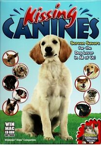 Kissing Canines Pc New Boxed Vista XP Screensavers For Dog Lovers 10 Breeds
