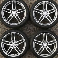 "Genuine Mercedes Benz 19"" AMG Alloy Wheels E Class 5 10 Spoke w213 Tyres 245 275"