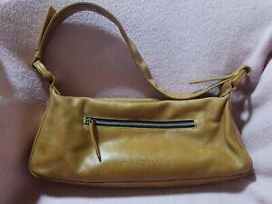 Derek Alexander Tan Leather Baguette Shoulder Bag Handbag Purse