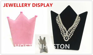 Luxury Velvet Necklace Chain Brooch Jewellery Display Board Stand/Bust Holde UK