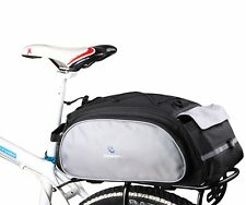 Bicycle Luggage Bag Large Rear Pannier Pack Saddle Capacity 13L Water Resistant