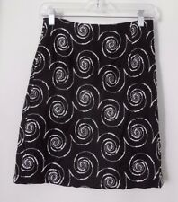 BETSEY JOHNSON Rayon Blend Black/White Embroidered Skirt ~ Women's Small
