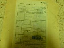 ZIM NAVIGATION REVENUE STAMP 250 MIL & 500 pr ON VAUCHER PAYEMENT 1961 ISRAEL