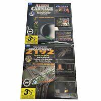 Alien Carnage Traffic Dept 2192 3.5 Disk Shareware Software by Wiz Tech 1993 LOT