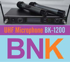 Professional BNK UHF Dual Channel  Microphone system 2 Microphones handhold