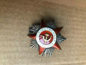 RUSSIA RUSSIAN USSR RARE PATRIOTIC WAR 2nd CLASS ORDER # 384561 WWII 1944-1945