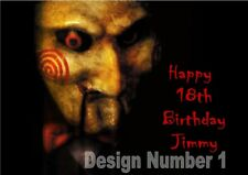 Jigsaw Saw Horror Personalised Large Birthday Card Dad Mum Son Daughter ANY